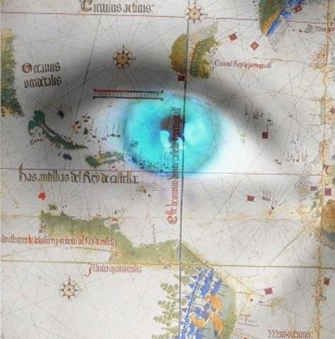 Map da Boa with eye